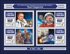 Togo 2016 MNH Yuri Gagarin First Man in Space 4v M/S Vostok 1 Krouchtchev Stamps