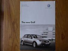 Volkswagen Golf  Price List Brochure  -  2005 #