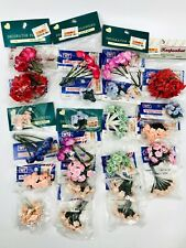 Synthetic Silk Flowers Lot of 24 1-4 in New Old Stock for Crafting Arrangement