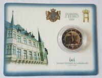Coincard mit 2 Euro Gedenkmünze Luxemburg 2019 - Charlotte- Mzz Brücke