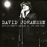 David Johansen - Live At Bunky's, Madison WI, 4th July 1978 (2014)  CD  NEW