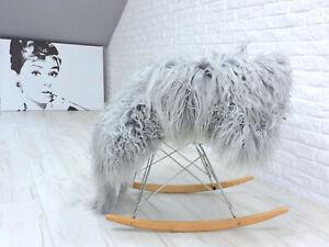 REAL ICELANDIC SHEEPSKIN RUG CURLY HAIR MONGOLIAN STYLE SHAG RUG AREA RUG 732
