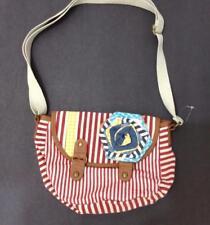 American Rag Handbag Small Red White Striped Cotton Rosette Crossbody Purse