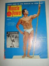 MUSCLE POWER MAGAZINE - Aug 1953 - JUAN FERRARO MR UNIVERSE - GAY INTEREST