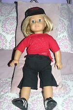 """American Girl 18"""" doll Kit Kittredge short blonde hair blue eyes in Ag outfit"""