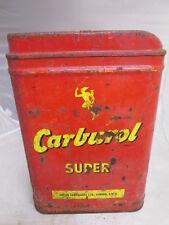 Carburol 5 gallon oil drum. .Shell . Esso. BP. .motor oil tin.