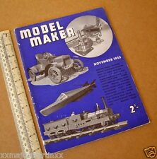 Model Maker Retro Hobby Mag. RTP Cars, Boats, Yachts, Railways Nov 1955 Vintage