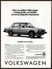 1984 VOLKSWAGEN Jetta GLI Vintage Original Print AD Variant photo French Canada