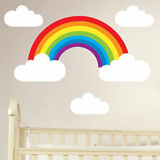 Rainbow and Clouds Full Colour Wall Stickers Decal Vinyl Childs Art Decor