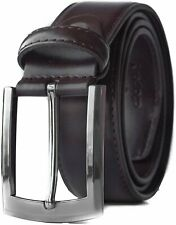Men's Classic 100% Real Leather Belt with Single Prong Buckle