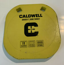"""Caldwell Magnum Gong Gong Only Target Yellow 5""""m AR500"""