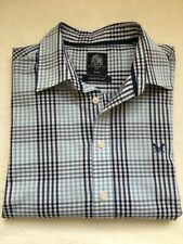 Crew Clothing Classic Fit Check Shirt Navy/Lt Blue/White (L) (RRP £57) 57% Disc