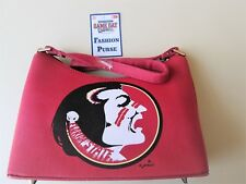 """Florida State *Seminoles  Purse *Maroon *Size* 10.5"""" X 7"""" X 2.5"""",FREE Baby Boots"""