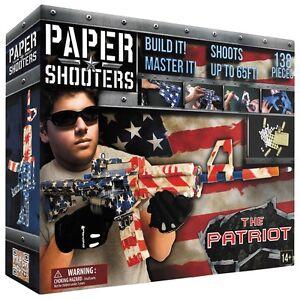 MFH PAPER SHOOTERS Bausatz Tactician Patriot Spielzeug-Gewehr Papierkugeln