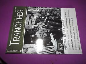 27DN Revue Tranchées n°26 Verdun & la Somme / Fort de tavannes / Fort  Pompelle