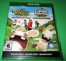 Rabbids Invasion + Lapins Cretins Invasion  Xbox One *New *Sealed! *Free Ship!