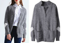 ❄️4 colors ANGORA PULLOVER WOLLE KAPUZE WOOL HOODED JUMPER SWEATER MINK CASHMERE