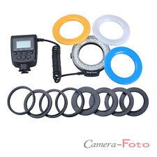 Ring Light Macro Flash fit for Canon Nikon DSLR Camera 48 LED + 8 Lens Adapter