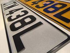 Pressed Metal Number Plates 100% UK Legal Pair Embossed FOCUS FIESTA RS MONDEO