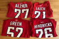 Lot Of 4 Washington Capitals Shirts With Players Names Men's Medium NHL Hockey