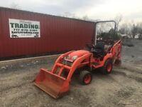 2014 Kubota BX25D 4x4 Compact Tractor Loader Backhoe!