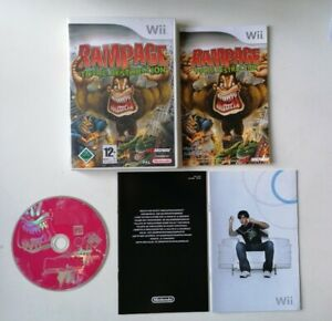 Jeu rare Nintendo WII Rampage Total Destruction Complet FR Excellent État