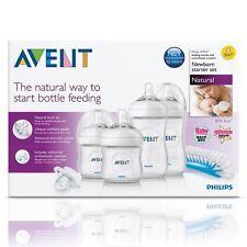 Philips AVENT Natural Newborn Baby Bottles Teats & Bottle Brush Starter Set