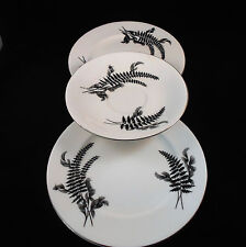 ROYAL ALBERT NIGHT AND DAY 2 X SIDE PLATES AND 1 X SAUCER C1950s ENGLAND