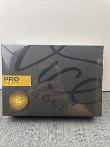 Vice PRO PLUS GOLD Golf Balls - 1 DOZEN - 1 Of 999 Total Dozen Made! - Rare!