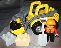 Lego Duplo Radlader Baustelle Fahrzeug Steinbruch Bagger Frontlader au 4988 5650