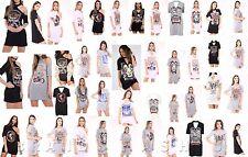 WOMENS CHOKER NECK T SHIRT LADIES AMERICAN ARIZONA EAGLE PRINTED LONG TOP DRESS
