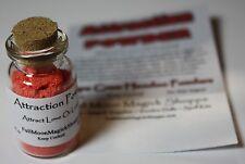 Attraction Powder Voodoo Hoodoo Ritual Dust Brings Love Lovers Sex Corked Bottle