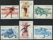 LAOS N°959/964** Jeux olympiques Albertville 1990, Winter Olympics Sc#966-971 NH