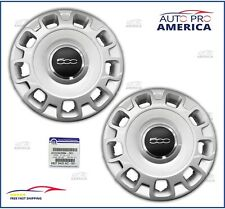 "(2) NEW OEM MOPAR 2012-2019 FIAT 500 fits 15"" STEEL WHEELS HUB CAP 68078420AC"