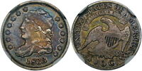 1833 5C NGC VF30 LM-7 CAPPED BUST ~ BEAUTIFUL COLOR & LOOKS XF+!
