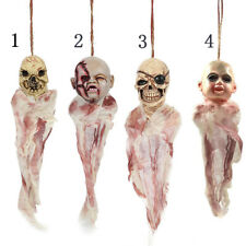 Halloween Party Scary Zombie Head Hanging Decor Prop Haunted House Horror RF