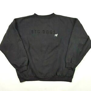 VTG 90s Big Dogs Men's Size L Crewneck Retro Spell Out Pullover Sweatshirt Logo