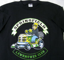 Springfield Lawnmower Club - The Simpsons - M Medium - Black T-shirt - New NWOT