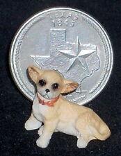 Dollhouse Miniature Sitting Miniature Chihuahua Dog 1:12 or 1:24 Animal #A3514