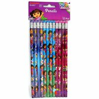 Dora The Explorer Pencils x12 Birthday Party Loot Bag Prize Favours Supplies Set