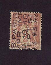 Préoblitéré N°12 2 c brun-rouge sage 5 lignes
