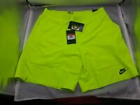 Nike Challenge Court Shorts Agassi Neon Volt (DB4617-363) - Size Large - NWT