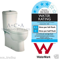 6006 WELS Watermark Toilet Suite S TRAP Full Ceramic Back to Wall Bathroom Soft