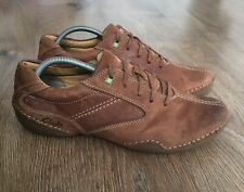CLARKS MENS BROWN LEATHER CASUAL SHOES Size UK 9 G EU 43