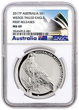 2017-P Australia $1 1 oz. Silver Wedge Tailed Eagle NGC MS69 FR SKU44924