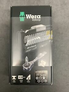 WERA 05346293001 Socket Bit Set, Steel, DrSz 1/4 in