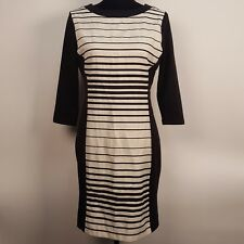 ATTITUDE by JAY MANUEL Dress White and black zip up back sz 8 DRESS NEW