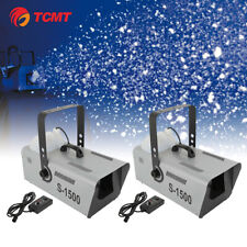 2Pcs 1500W Snow Maker Machine Stage Effect Remote Control for Party DJ Show Xmas