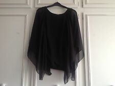 Black Batwing Blouse From Quiz Size 8