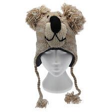 Divertente Koala Fatto a Mano Inverno Lana Animale Cappello Fodera in Pile Taglia unica, unisex